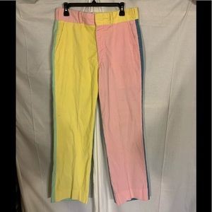 Austin Hill vintage color blocked corduroy pants.